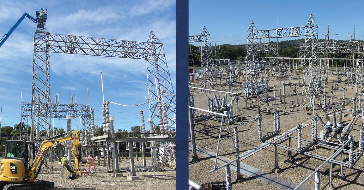 substation switchyard construction aui power